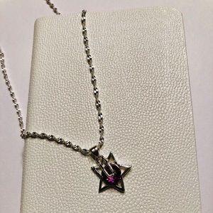 Sterling Star Star Pendant